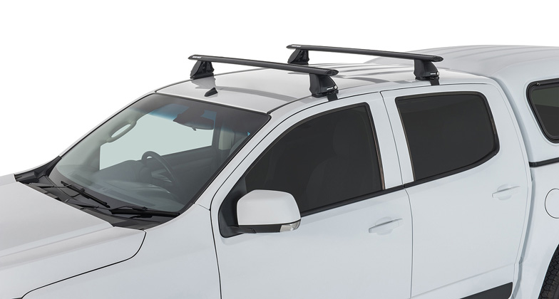 2 Bar Rhino Roof Rack for HOLDEN RC Colorado Rodeo RA D-Max Dual Cab JA2369